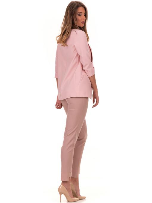Дамски панталон F.L.M с колан 738 - цвят пудра E