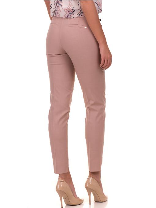 Дамски панталон F.L.M с колан 738 - цвят пудра B