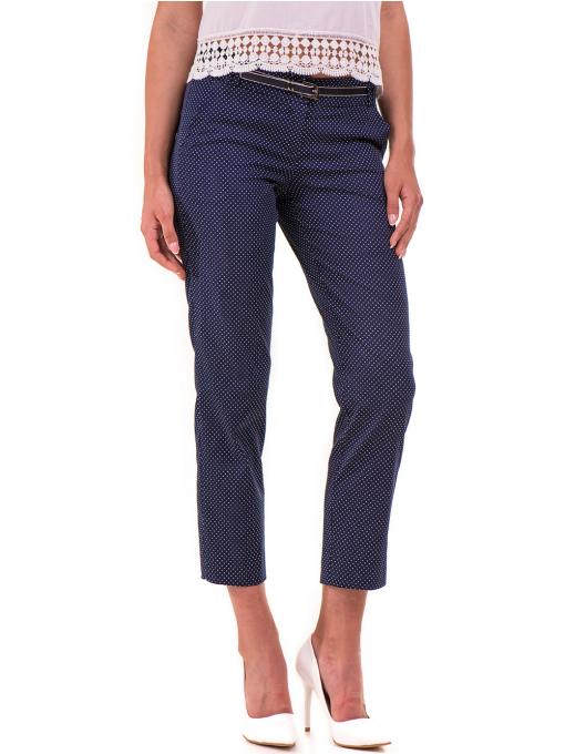 Дамски панталон F.L.M с колан 743 - тъмно син