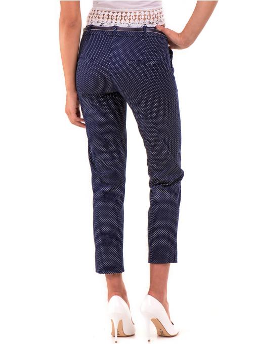 Дамски панталон F.L.M с колан 743 - тъмно син B