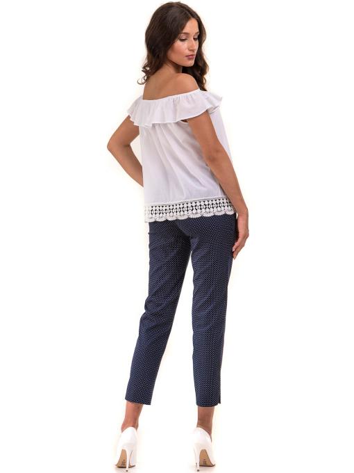 Дамски панталон F.L.M с колан 743 - тъмно син E
