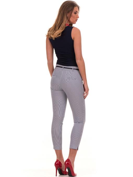 Дамски панталон F.L.M с колан B561  - син E