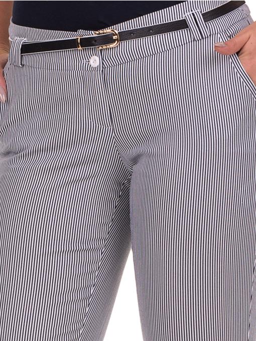 Дамски панталон F.L.M с колан B561  - син D