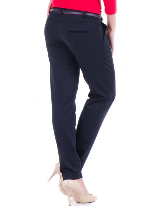 Дамски панталон F.L.M. с колан 900 - тъмно син B