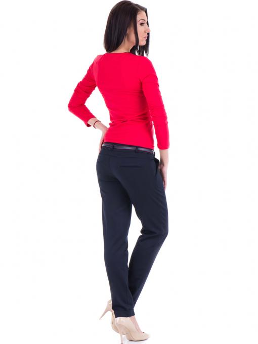 Дамски панталон F.L.M. с колан 900 - тъмно син E