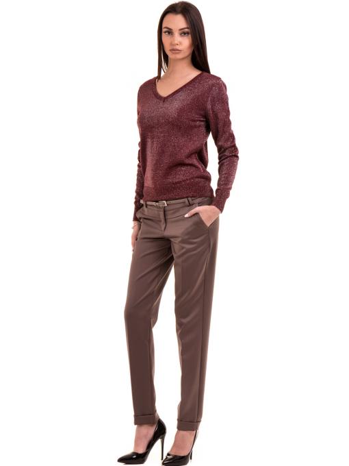 Дамски панталон F.L.M. с колан 900 - цвят капучино C