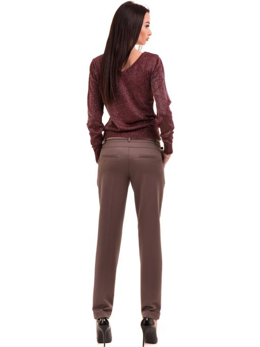 Дамски панталон F.L.M. с колан 900 - цвят капучино E