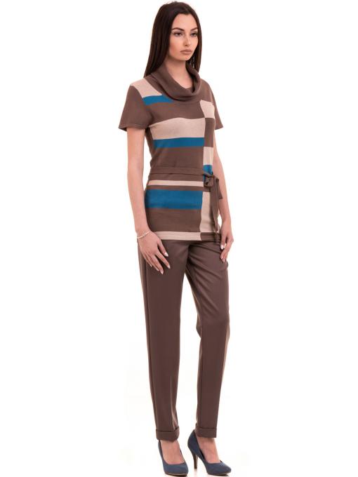 Дамски панталон F.L.M. с колан 900 - цвят капучино C2