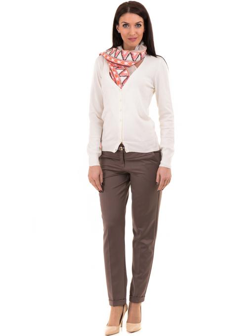 Дамски панталон F.L.M. с колан 900 - цвят капучино C1