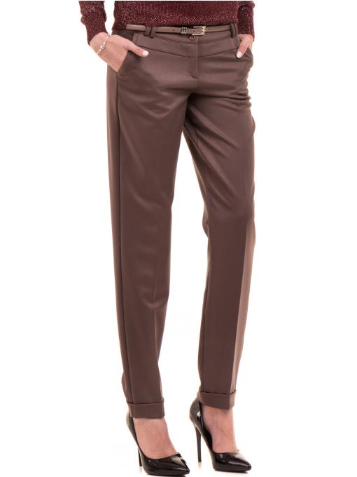 Дамски панталон F.L.M. с колан 900 - цвят капучино