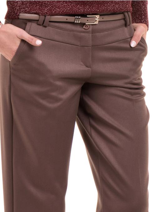 Дамски панталон F.L.M. с колан 900 - цвят капучино D