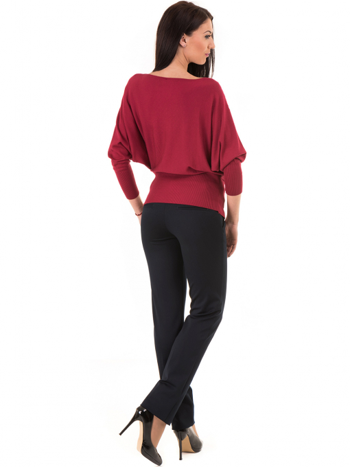 Дамски панталон F.L.M с колан 901- тъмно син E