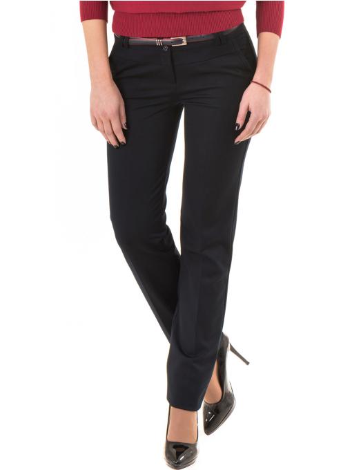 Дамски панталон F.L.M с колан 901- тъмно син