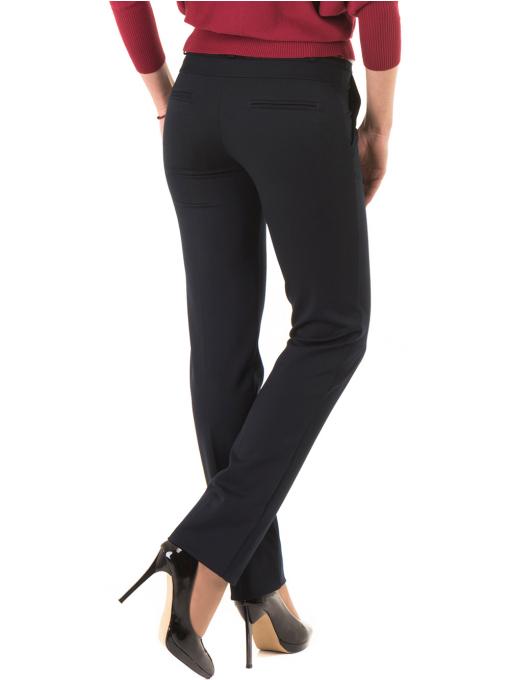 Дамски панталон F.L.M с колан 901- тъмно син B