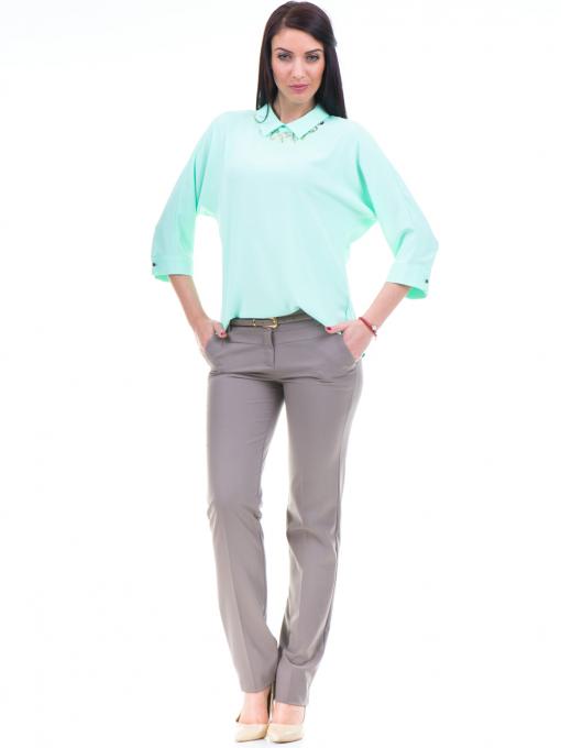 Дамски панталон F.L.M с колан 961- цвят капучино C