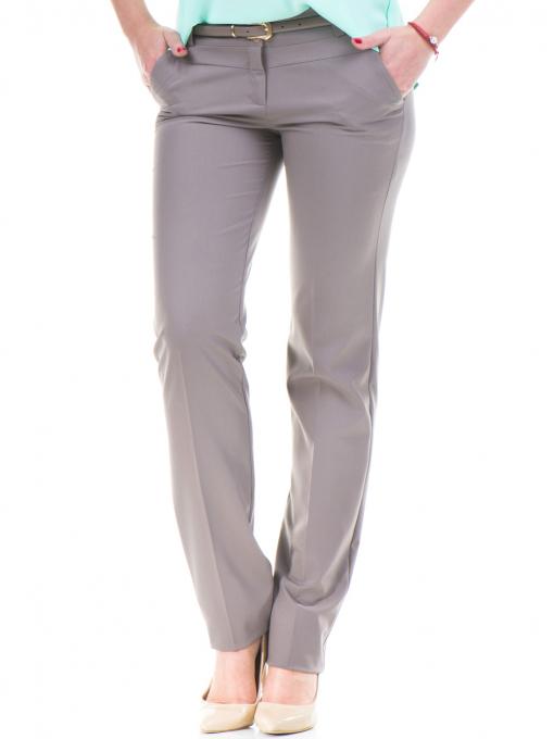 Дамски панталон F.L.M с колан 961- цвят капучино