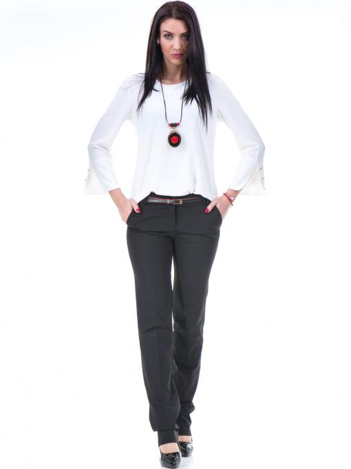 Дамски панталон F.L.M с колан 961 - черен C