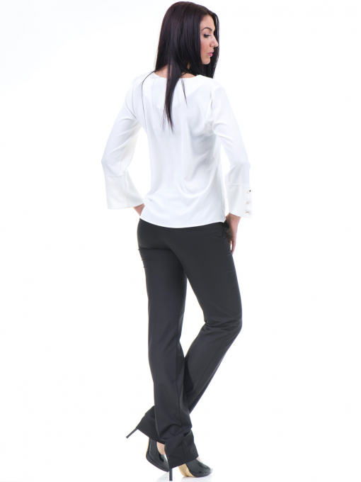 Дамски панталон F.L.M с колан 961 - черен E