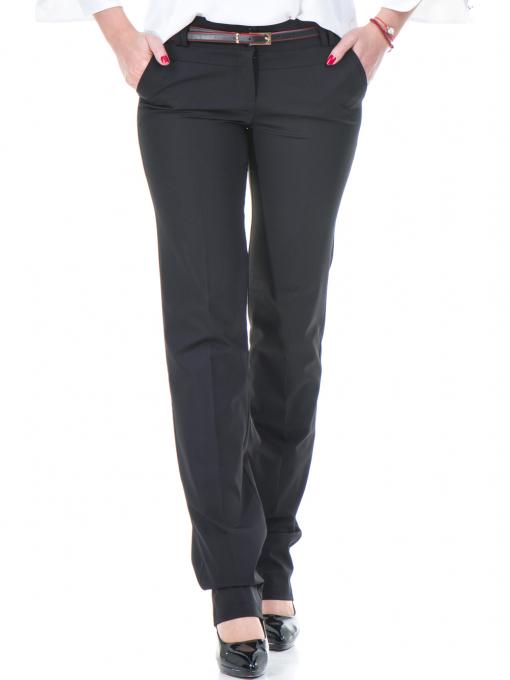 Дамски панталон F.L.M с колан 961 - черен