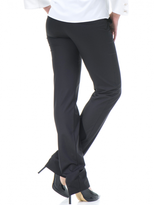 Дамски панталон F.L.M с колан 961 - черен B
