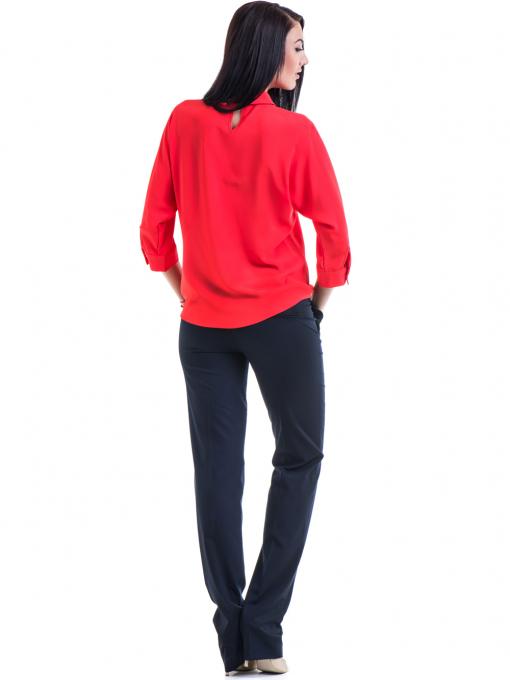 Дамски панталон F.L.M  с колан 961 - тъмно син E