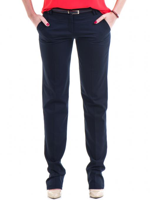 Дамски панталон F.L.M  с колан 961 - тъмно син