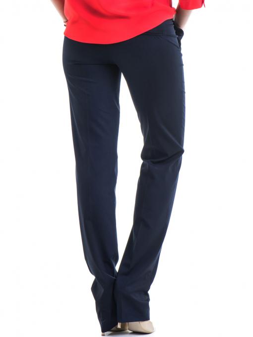 Дамски панталон F.L.M  с колан 961 - тъмно син B