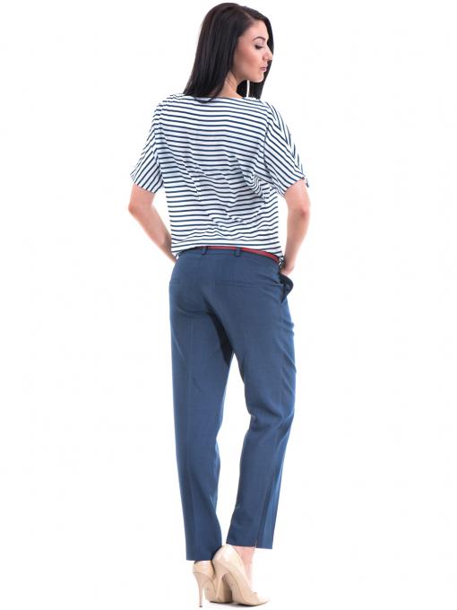 Дамски панталон F.L.M с колан 964 - син E