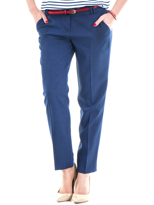Дамски панталон F.L.M с колан 964 - син