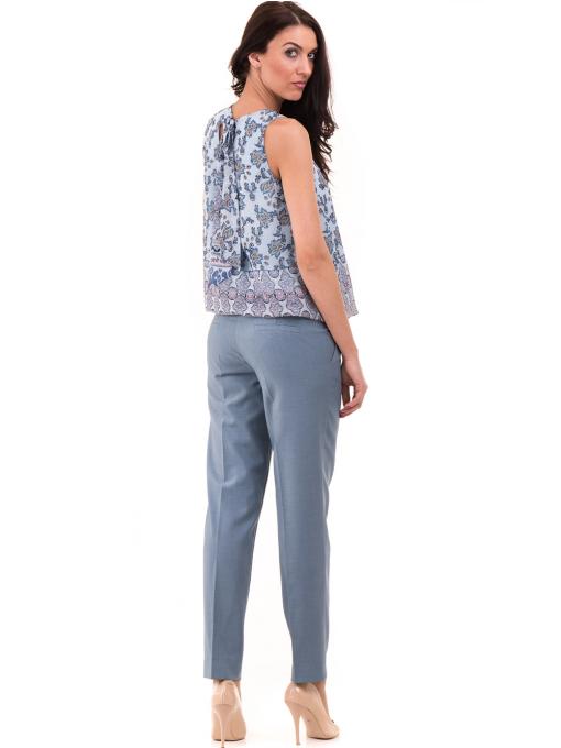 Дамски панталон F.L.M с колан 964 - светло син E