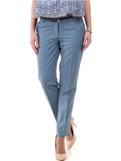 Дамски панталон F.L.M с колан 964 - светло син