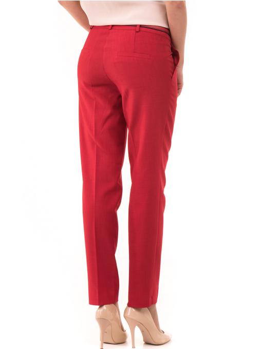 Дамски панталон F.L.M с колан 964 - червен B