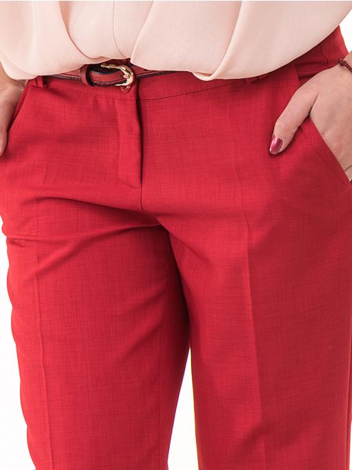 Дамски панталон F.L.M с колан 964 - червен D