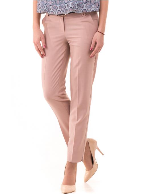 Дамски панталон F.L.M с колан 964 - светло розов