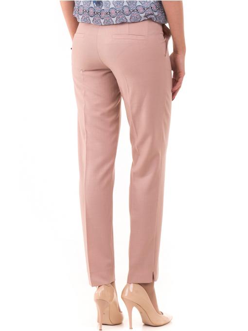 Дамски панталон F.L.M с колан 964 - светло розов B