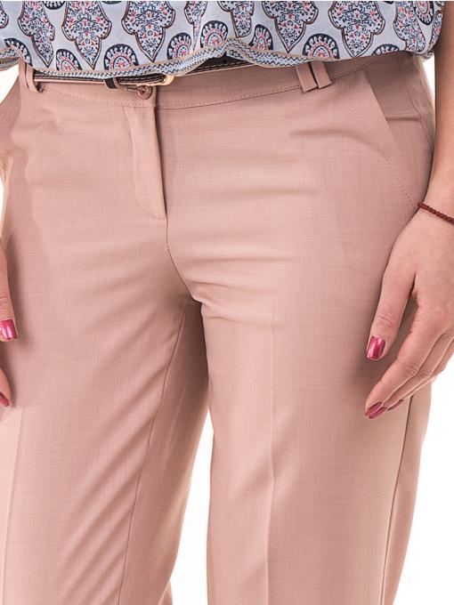 Дамски панталон F.L.M с колан 964 - светло розов D