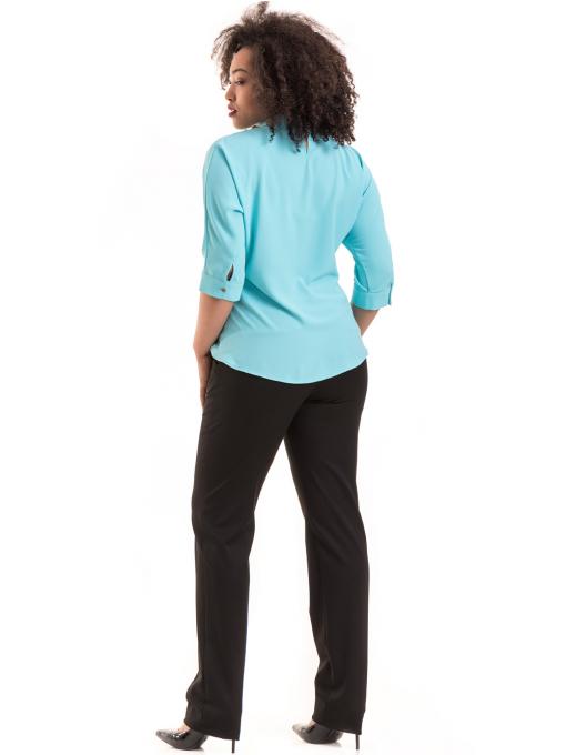 Дамски панталон F.L.M с колан B491 - черен - черен E