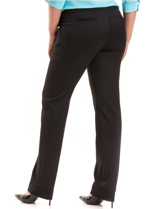Дамски панталон F.L.M с колан B491 - черен B