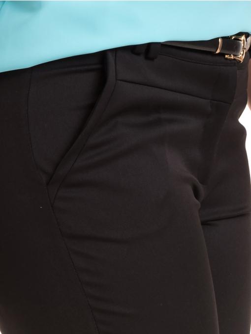 Дамски панталон F.L.M с колан B491 - черен - черен D