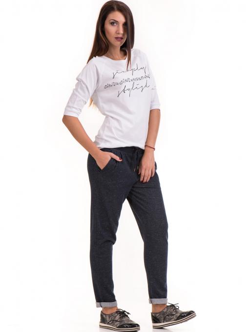 Дамски  спортен панталон JOGGY GIRLS 5421 - тъмно син C