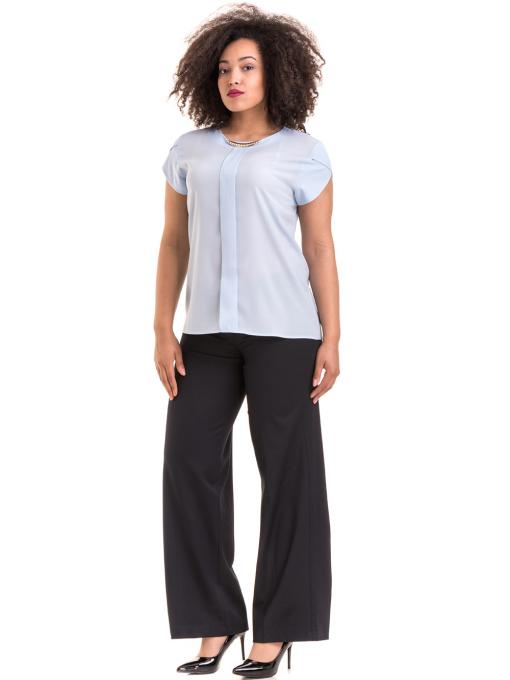 Дамски панталон KGS с колан 6618 - тъмно син C