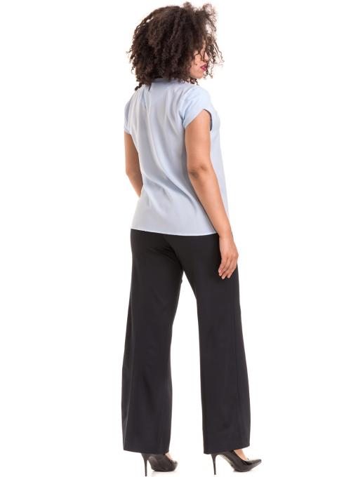 Дамски панталон KGS с колан 6618 - тъмно син E