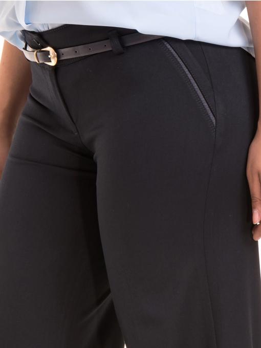 Дамски панталон KGS с колан 6618 - тъмно син D