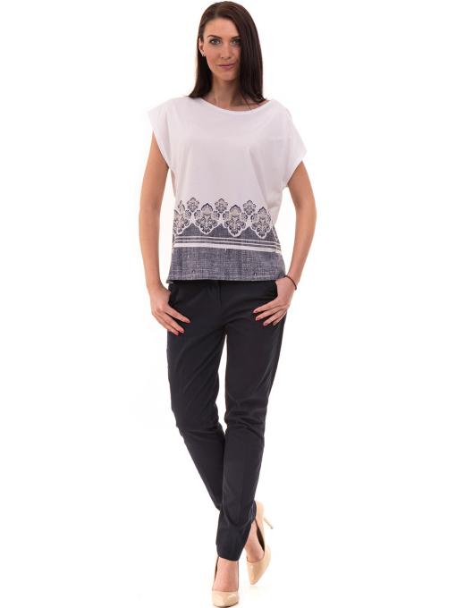 Дамски панталон KOTON 42193 - тъмно син C1