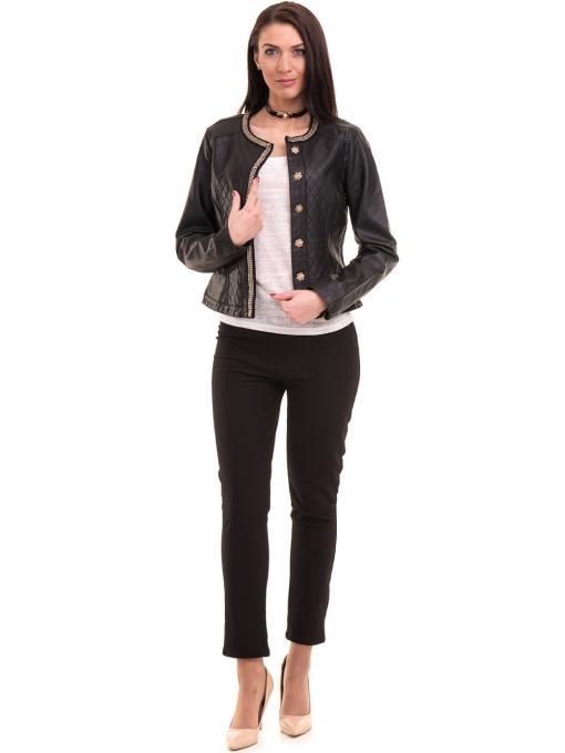 Дамска блуза с обло деколте XINT 755 - бяла C1