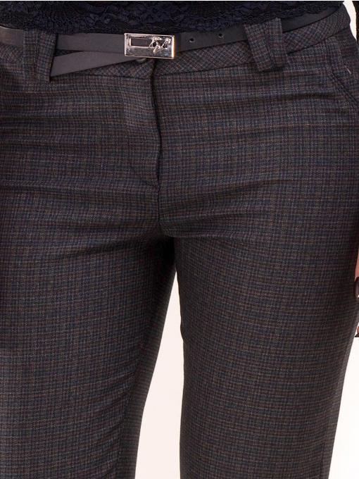 Елегантен дамски панталон KYLIE в големи размери B437 - тъмно син D