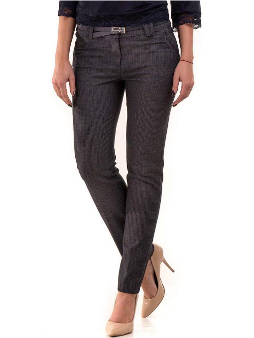 Елегантен дамски панталон KYLIE в големи размери B437 - тъмно син