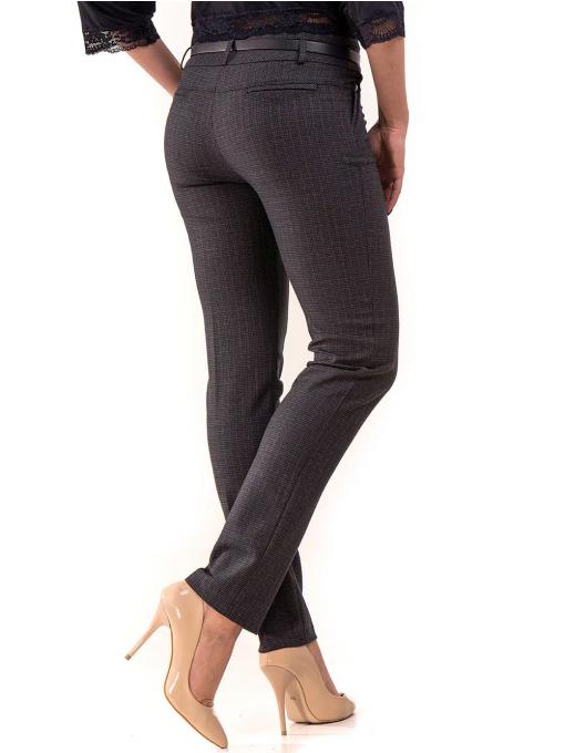 Елегантен дамски панталон KYLIE в големи размери B437 - тъмно син B