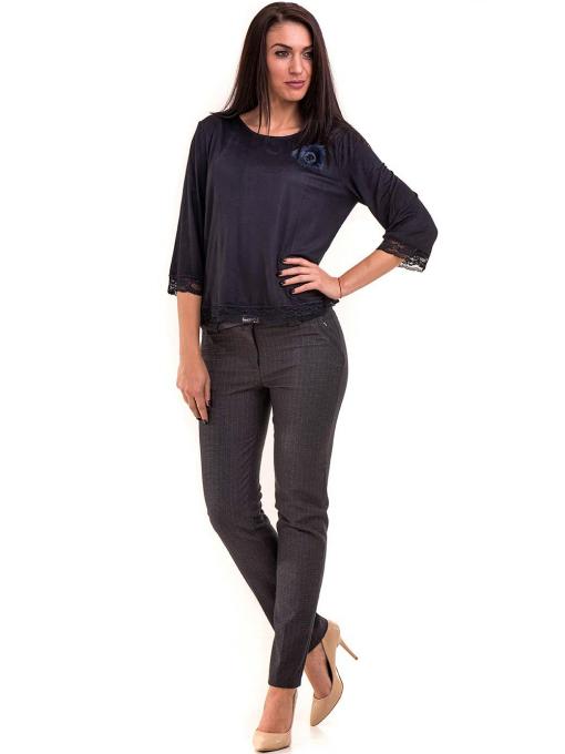 Елегантен дамски панталон KYLIE в големи размери B437 - тъмно син C