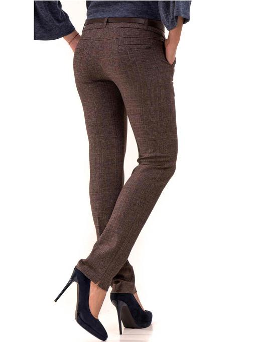 Дамски панталон KYLIE с италиански джоб и колан B478 - светло кафяв B
